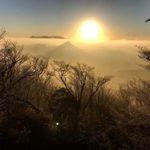 福岡県最高峰、釈迦岳からの初日の出